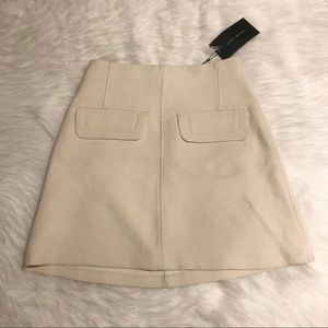 ZARA Mini Cream Skirt